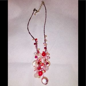 Silpada pink real pearl necklace
